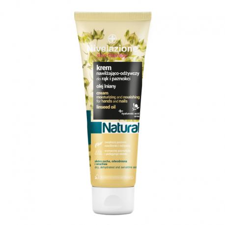 NIVELAZIONE Skin Therapy Natural Nawilżająco-odżywczy krem do rąk i paznokci z olejem lnianym