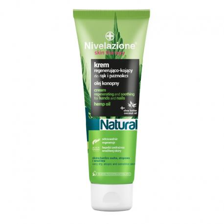 NIVELAZIONE Skin Therapy Natural Regenerująco-kojący krem do rąk i paznokci z olejem konopnym 100 ml